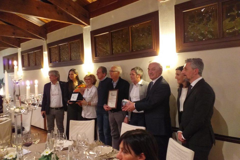 """La Montanella di Arquà Petrarca miglior ristorante 2018  per il magazine """"Con i piedi per terra"""""""